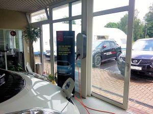 Ladestation für Elektrofahrzeuge für ein Autohaus